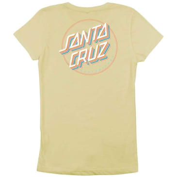 Santa Cruz Girl's Layer Dot Fitted T-Shirt - Banana Cream