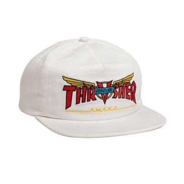 Thrasher Venture Collab Snapback Hat - White