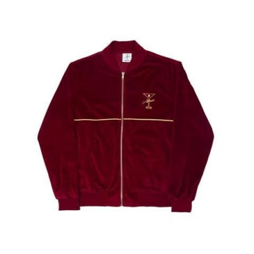 ALLTIMERS UNCLES VELOUR ZIP - BURGUNDY