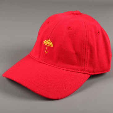 Helas 'Classic Umb' 6 Panel Hat (Red)