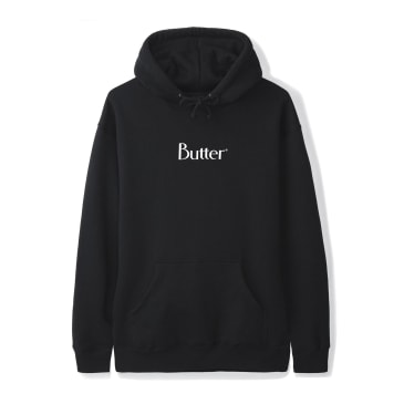 "BUTTER GOODS-""CLASSIC LOGO HOODIE""(BLACK)"