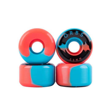 Welcome Skateboards Orbs Specters - Conical Shape Wheels - 52mm (Blue-Coral)