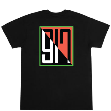 Call Me 917 Split T-Shirt - Black