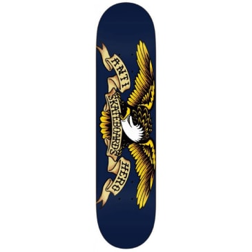 Anti Hero Skateboards Classic Eagle Skateboard Deck Navy - 8.5