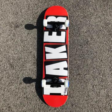 Baker Skateboards Brand Logo Complete Skateboard Red/White - 7.5