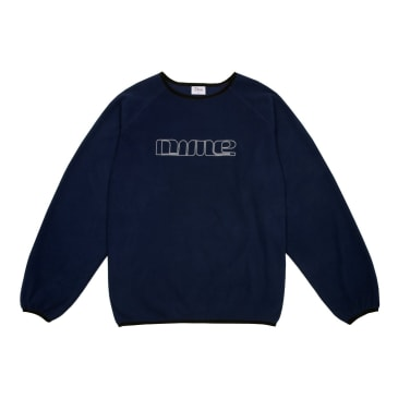 Dime Raglan Polar Fleece Crewneck - Navy