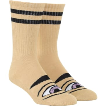 Toy Machine Sect Eye Crew Sock (Camel)