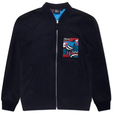 by Parra Bar Messy Wool Jacket - Dark Navy