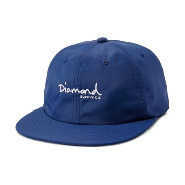 Diamond - Mini OG Script Strapback (Red/Blue)