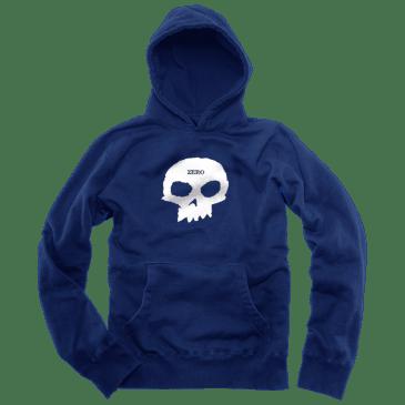 Zero Single Skull Hoodie - Navy