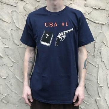 Dear Skating USA #1 T Shirt (Navy Blue)
