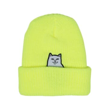 Rip N Dip Lord Nermal Ribbed Beanie - Safety Yellow