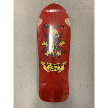 Dogtown Skateboards Suicidal Possessed to Skate Reissue Deck Red 10.125