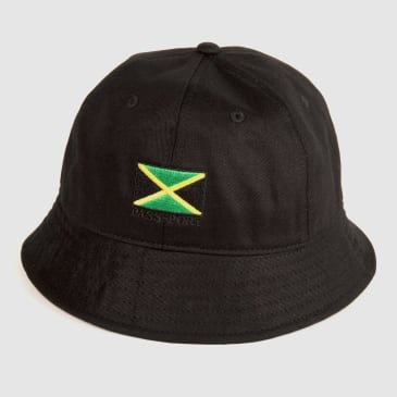 "PASS~PORT ""JAMAICA"" BUCKET CAP BLK"
