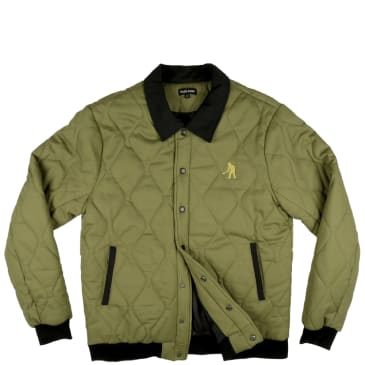 """PASS~PORT """"LATE QUILTED"""" JACKET MILITARY GREEN"""