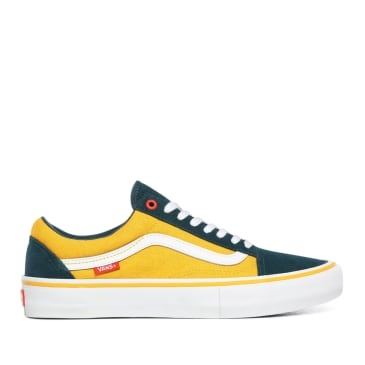 Vans Prime Old Skool Pro Skate Shoes Atlantic / Gold