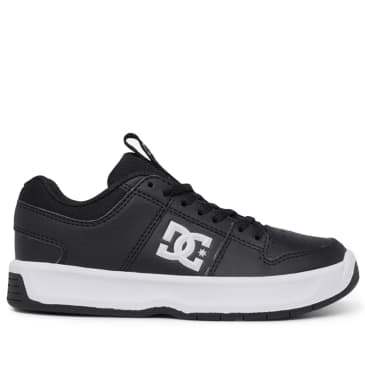 DC Lynx Leather Youth Skate Shoes - Black / White