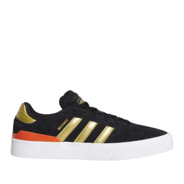 adidas Skateboarding Busenitz Vulc II Shoes - Core Black / Gold Met / Solar Red