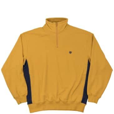 Bronze 56k Microdose 1/4 Zip Sweater - Mustard/Navy