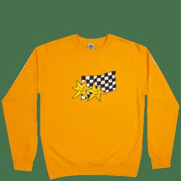 Frog Skateboards Premium Stars Crewneck - Gold