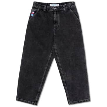 Polar Skate Co Big Boy Work Pants - Washed Black (White Stitching)