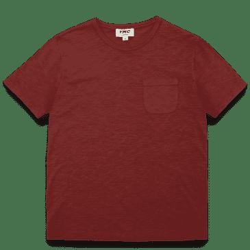 YMC Wild Ones Pocket T-Shirt - Dark Red