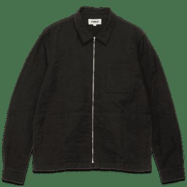 YMC Bowie Cotton Floral Jacquard Shirt - Black