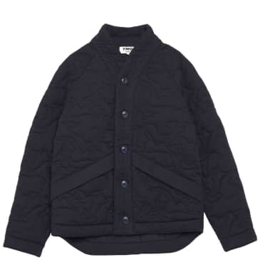 YMC Erkin Rayon Cotton Quilted Jacket - Navy
