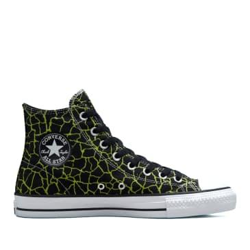 Converse CONS Crackle Print CTAS Pro Shoes - Black / Lime / Twist / White