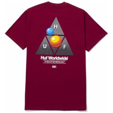 HUF Video Format Triple Triangle T-Shirt - Cardinal Red