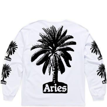 Aries Palm Long Sleeve T-Shirt - White