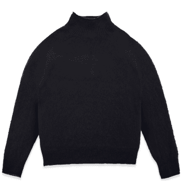 YMC Diddy Brushed Lambswool Roll Neck Knitted Jumper - Navy