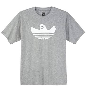 adidas Skateboarding Shmoofoil T-Shirt - Heather Grey / White