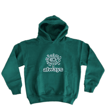 always do what you should do always Logo Hoodie - Forest Green
