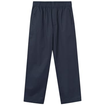 Wood Wood Stanley Twill Trouser - Navy