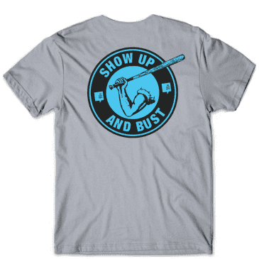 The Back Forty Show Up and Bust T-Shirt - Grey