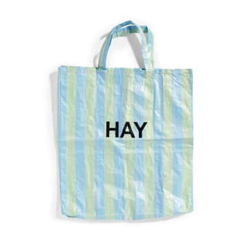 Hay Recycled Candy Stripe Shopper (X-Large) - Blue / Green