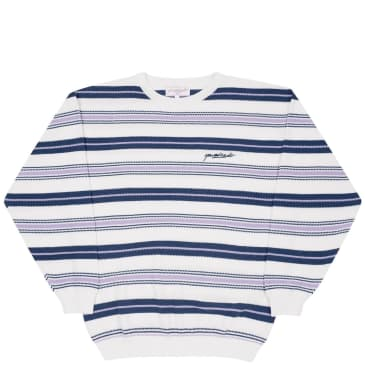 Yardsale Mirage Knit - White / Navy / Lavender
