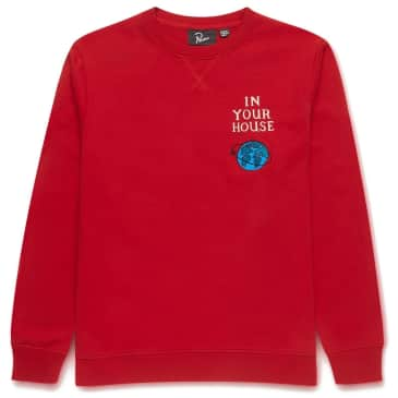 by Parra Systems Logo Crew Neck Sweatshirt - Red