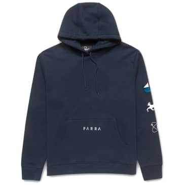by Parra Paper Dog Systems Hooded Sweatshirt - Navy