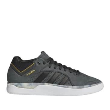 adidas Skateboarding Tyshawn Shoe - Carbon / Core Black / Gold Met