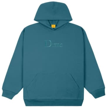 Dime Classic Embroidered Hoodie - Real Teal