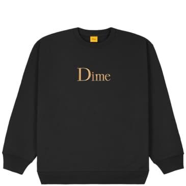 Dime Classic Embroidered Crewneck - Black