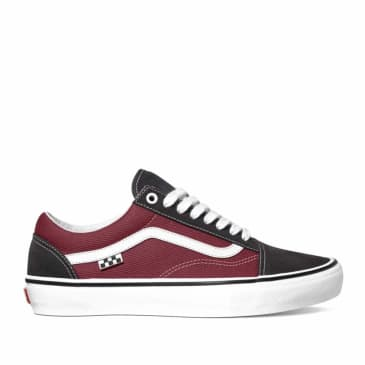 Vans Skate Old Skool Shoes - Asphalt / Pomegranate