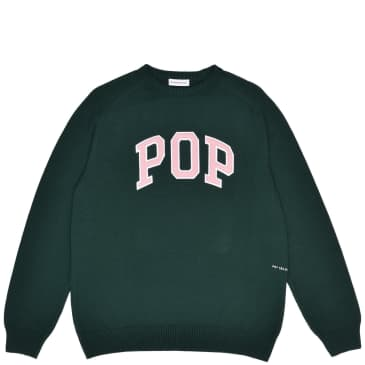 Pop Trading Company Arch Knitted Crewneck - Bistro Green