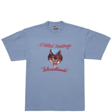 Central Bookings Intl. Psycho Wolf T-Shirt - Slate Blue