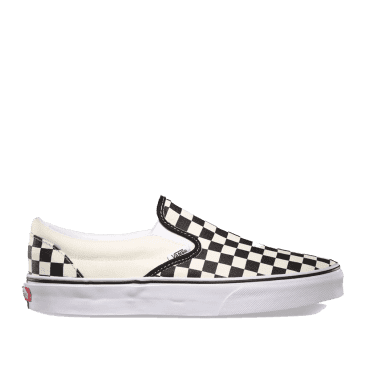 Vans Classic Slip-On Shoes - Checkerboard Black / White