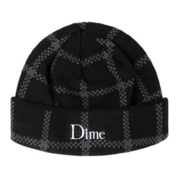 Dime Classic Plaid Beanie - Black