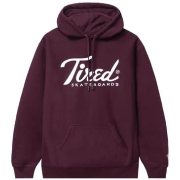 Tired Cherise Pull Over Hoodie - Maroon