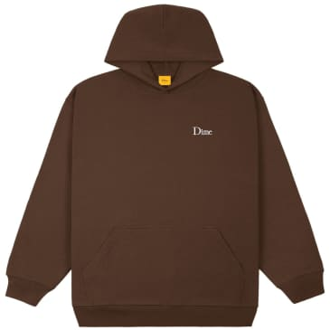 Dime Classic Small Logo Hoodie - Stray Brown